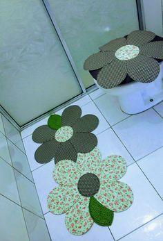 Artesanato Com Criatividade Jogos De Banheiro De Tecido