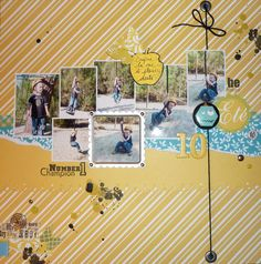 multiphotos layout #scrapbooking #page