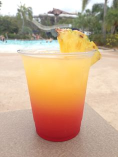 Banana Cabana – widely available – $9.25. It's made with a mix of mango and guava rums, as well as Creme de Banana, fruit juices, and a splash of grenadine
