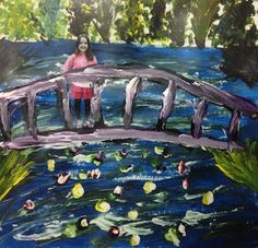 This art teacher's blog has some great ideas. This one incorporates Monet and…