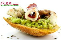 #Montaditos   Originales #Tapas de Guacamole y Jamón Ibérico. ¡Vivan las Tapas!