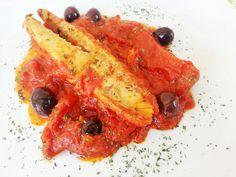 Sgombro con filetti di pomodoro http://www.lovecooking.it/secondi/sgombro-con-filetti-di-pomodoro/