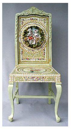 Mosaic Dining Chair in Mint Green...  http://www.arcdesignsbyellen.com