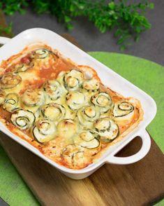 Die Zucchini-Ricotta-Röllchen sind Low Carb, glutenfrei und vegetarisch. Sie sind einfach zu kochen und einfach lecker. #lowcarb #glutenfrei #vegetarisch # zuckerfrei