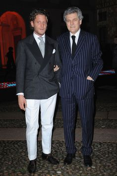 Lapo and his father Alain Elkann