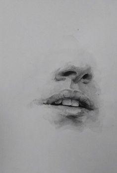 mouth nose watercolour watercolor