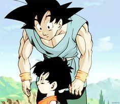 Aww don& u guys worry about pan,she& be just fine. Dbz, Dragon Ball Z, Broly Movie, Goku And Chichi, Popular Manga, Anime Family, Sketch Inspiration, Anime Costumes, Cultura Pop