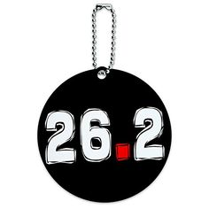 262 Marathon Running Round Luggage ID Tag Card Suitcase CarryOn * Click on the image for additional details.Note:It is affiliate link to Amazon.