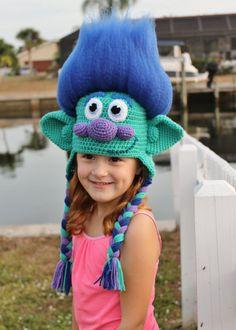 Trolls Happy Branch Crochet Hat PDF Pattern Crochet Hat