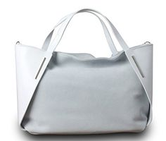 Made in Italy Luxus Damen Handtasche Henkeltasche Bag Shopper Echt Leder Weiß - http://herrentaschenkaufen.de/my-musthave/made-in-italy-luxus-damen-handtasche-bag-shopper-3