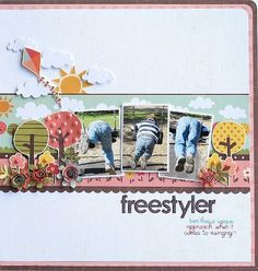 #papercraft #scrapbook #layout. Melinda Spinks