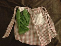 Upcycled Apron made from Men's Dress Shirts by DontBlameTheBacon