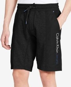 Calvin Klein Jeans Men's Colorblocked Drawstring Casual Shorts -