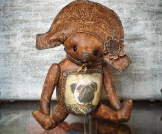 General Bono chocolate Bear coffee Bear ooak by TeddyBearsByJulia, €95.00