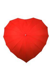 Parapluie canne <BR> Rouge