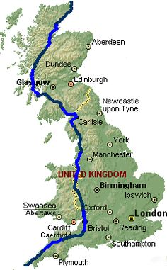 Land's End to John o' Groats route done this route but over a matter of years lol..