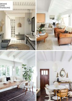 Add Character to Basic Architecture: Ceiling Paneling + A Roundup - Emily Henderson Home Ceiling, Ceiling Beams, Ceilings, Swedish Interior Design, Painted Beams, Beadboard Wainscoting, Ceiling Treatments, Reno, Cabin Homes