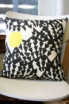 Peaks Removable Throw Pillow Cover by leahduncan on Etsy, $38.00