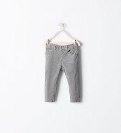 ZARA - ENFANTS - Pantalon 5 poches en velours côtelé
