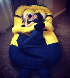 I Need This Minion Bed // funny pictures - funny photos - funny images - funny pics - funny quotes - #lol #humor #funnypictures