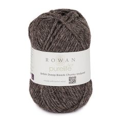 Perfect for rugged outerwear designs, Rowan British Sheep Breeds Chunky Undyed knitting yarn is spun in its own beautiful natural shades - no dyeing and no stripping of the wool's natural lanolin oils! The different shades come from six classic British sheep breeds: Jacob's Sheep, Welsh, Blue-Faced Leicester, Shetland Moorit, Masham and Suffolk. Purelife is Rowan's range of knitting yarns produced with the environment in mind: shorn, spun and sold in Britain, British Sheep Breeds reduce…