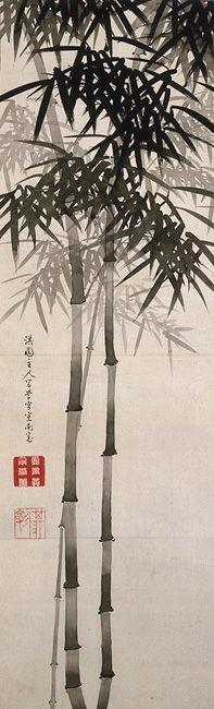 bamboo ink - Yanagisawa Kien, Ink Bamboo, Edo Period (1615-1867A.D.)