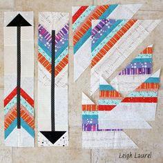 Arrow blocks with scrap pieces by karin jordan