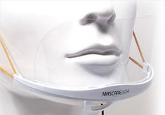 The Mascare mask by Shield of Glory limits the user's unconscious actions of touching their eyes, nose, mouth, or hair during their work hours. Transparent Design, Fast Food Chains, Everyday Activities, Food Industry, Eyes, Hair, Whoville Hair, Daily Activities, Human Eye