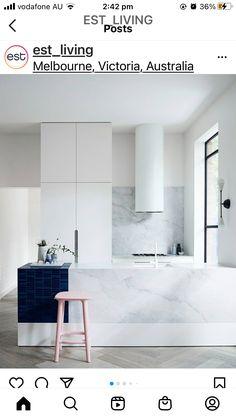 Luxury Kitchen Design, Best Kitchen Designs, Luxury Kitchens, Interior Design Kitchen, Kitchen Ideas, White Kitchens, Kitchen Decor, Kitchen Box, Elegant Kitchens