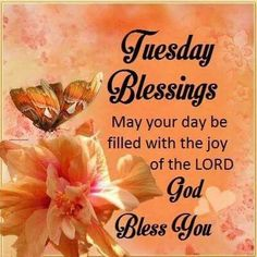 Tuesday Blessings Good Morning Image