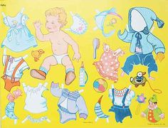 Danish baby paper doll / lascosasdemami.com