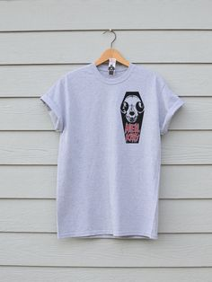 Hell Kitty Chest Tee, By Ben prints On Etsy