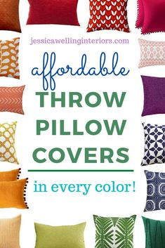 These cheap, colorful throw pillow covers are perfect for adding some modern boho style to your living room or bedroom decor! They have tassels, pompoms, tribal prints, florals, botanicals, and more! Plus, they come in blue, aqua, navy, green, pink, black and white, yellow, orange, and every color! Cheap Throw Pillow Covers, Square Pillow Covers, Navy Pillows, Colorful Throw Pillows, Home Decor Quotes, Home Decor Pictures, Navy And Green, Pink Black, Navy Blue