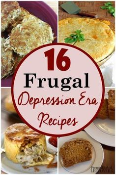 Frugal and Flavorful Depression Era Recipes- From depression era desserts to dinners, here is a list of 16 affordable and delicious meals with your family - you may just rediscover some favorite recipes from your grandparent's time. Frugal Meals, Budget Meals, Easy Meals, Frugal Recipes, Cheap Recipes, Easy Budget, Inexpensive Meals, Groceries Budget, Desserts On A Budget