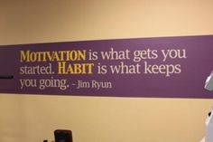 When I can afford my own gym gear for my own house...this will be posted on the wall. Great quote!