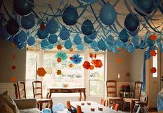Under water or beach party ballon decorations