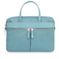 "b8da6e5c876 KNOMO กระเป๋าแล็ปท็อป HANOVER 14"" Slim Briefcase : Sea (Blue)"
