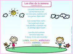 Me encanta escribir en español: Canción: Los días de la semana (La pandilla de Drilo)