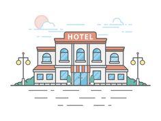 Hotel by Huazi #Design Popular #Dribbble #shots