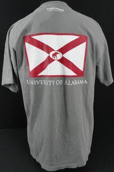 3dd6c329d2d73 NWT Tuskwear Licensed University of Alabama Mens Gray T-Shirt Pocket SS  Elephant
