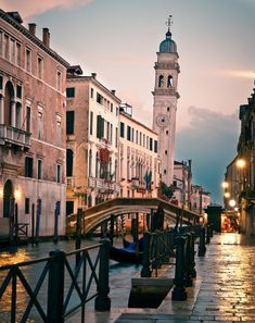 Leaning tower in Venice, Italy