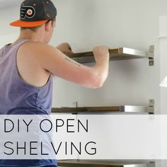 DIY FLOATING SHELVES - AN IKEA HACK