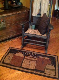 hooked rug ...~♥~