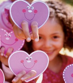 hearts with legs - Valentine crafts for kids
