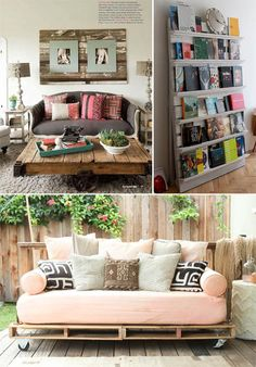 Another website to give you ideas of what to do with Pallets. how cool is that at In Spaces Between | Pallet Love!