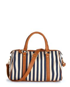 striped tote bag.