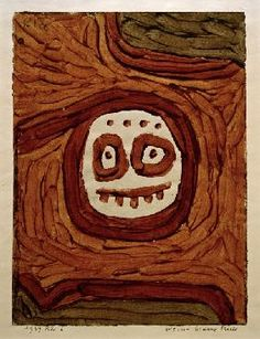 Paul Klee - Weiss-braune Maske, 1939, 806.