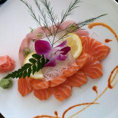 Salmon sashimi & yellow tail at Sushi Yama