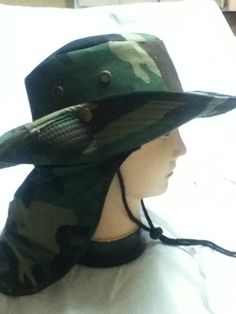 Boonie Fishing Hiking Snap Brim Army Military Neck Cover Flap Bucket Sun Hat Cap #CustomizedPersonalized #BoonieBush