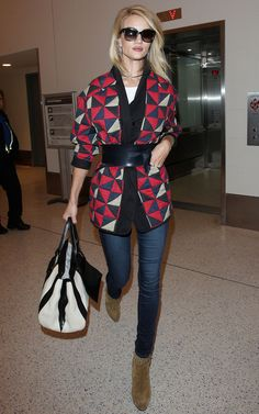 Rosie Huntington Whiteley at JFK Airport